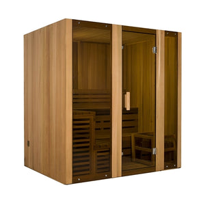 Aleko Traditional Sauna: Canadian Cedar Wet Dry Steam Room Sauna - 6 Person