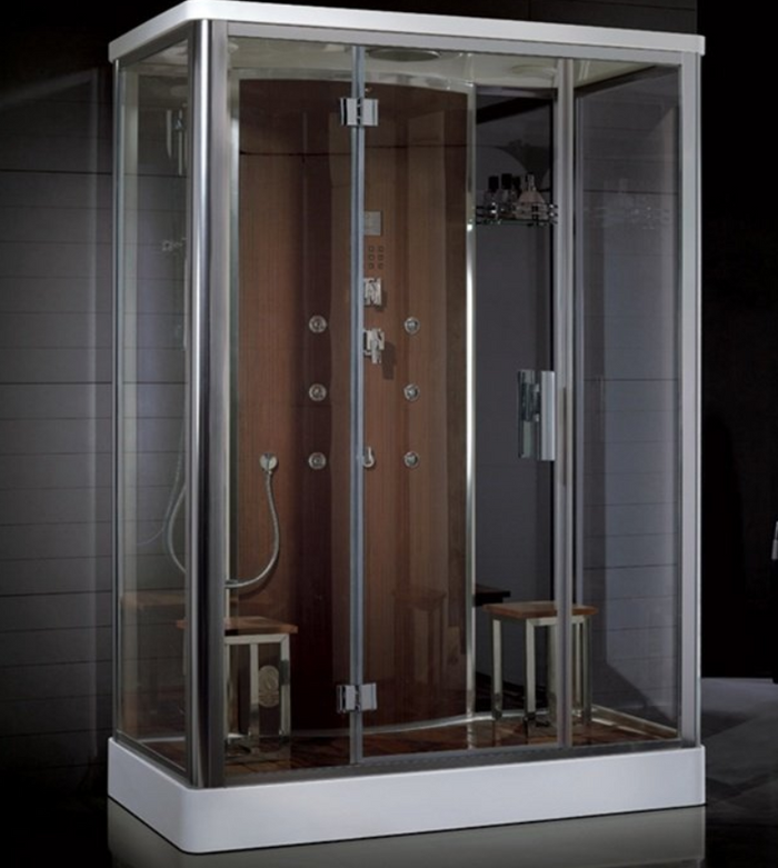 "Platinum DZ956F8 Steam Shower-59"" x 35"" x 87"" - Brown"