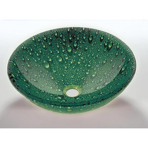 Legion Furniture Tempered Glass Vessel Sink Bowl - Green ZA-10