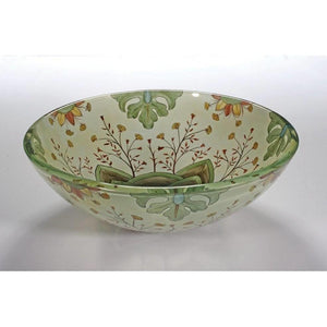 Legion Furniture Tempered Glass Vessel Sink Bowl - Floral Spring ZA-129