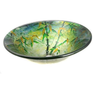 Legion Furniture Tempered Glass Vessel Sink Bowl - Green Bamboo ZA-159