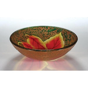 Legion Furniture Tempered Glass Vessel Sink Bowl - Autumn Leaf ZA-204