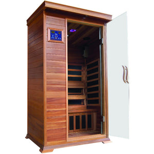 Sunray 1 Person Cedar HL100K Sedona Infrared Sauna