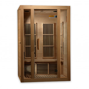 Golden Designs Maxxus Seattle Edition 2 Person Low EMF FAR Infrared Carbon Canadian Hemlock Sauna MX-J206-01