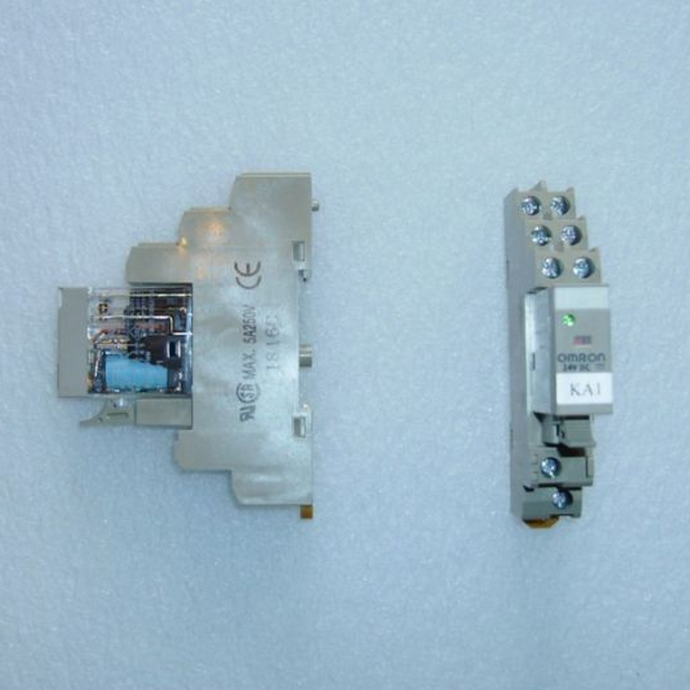 Omron Relay, 24VDC, GR2-2-SND KA1, 2 and Base, SP50/SJ50