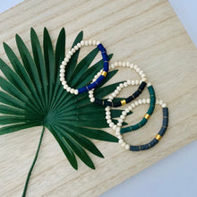 Load image into Gallery viewer, Heishi Chic Collection - Emerald Diffuser Bracelet