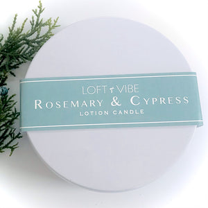 Rosemary & Cypress Lotion Candle