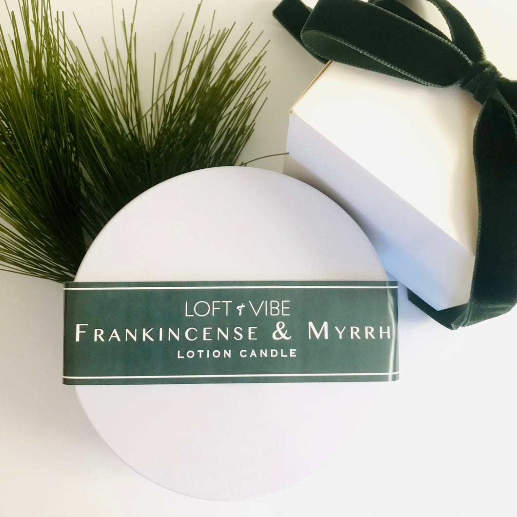 Frankincense & Myrrh Lotion Candle