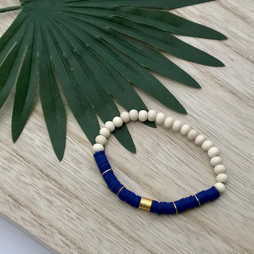 Heishi Chic Collection - Sapphire Diffuser Bracelet