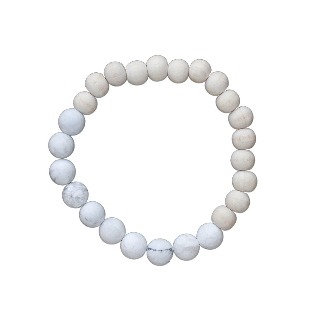 Neutral Collection - Howlite Diffuser Bracelet