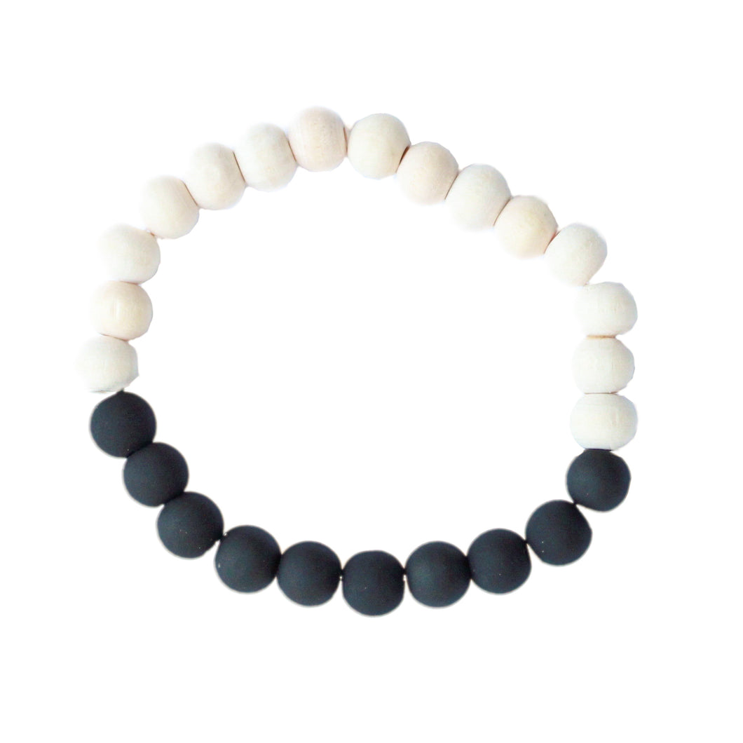 Neutral Collection - Black Glass Diffuser Bracelet