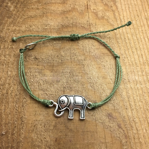 Silver Elephant Connector Charm