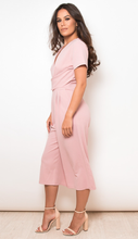 Load image into Gallery viewer, Short Sleeve Culotte Jumpsuit Mauve Pink