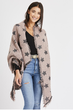 Load image into Gallery viewer, Metallic Trim & Star Scarf -  Dusty Pink