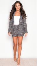 Load image into Gallery viewer, Tweed Tailored Short Multicoloured/Grey