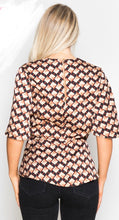 Load image into Gallery viewer, Geo Print Wrap Top Multi