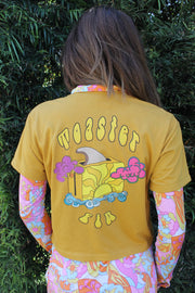 Toastadelic 70's Gold Crop Top