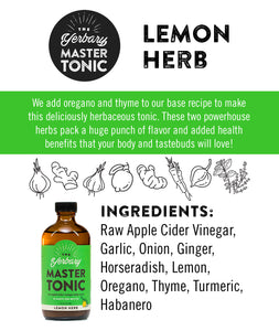 Master Tonic Lemon Herb 8 oz