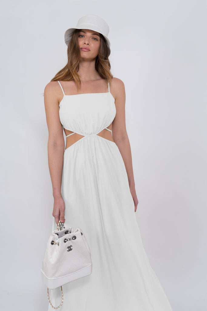 Lila Maxi Dress White- PRE-ORDER