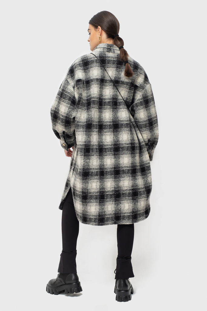 Abi Lined - Black/Grey Check