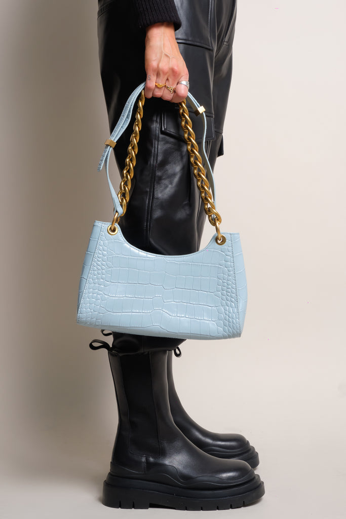 MIA BAG - 100% LEATHER - BLUE
