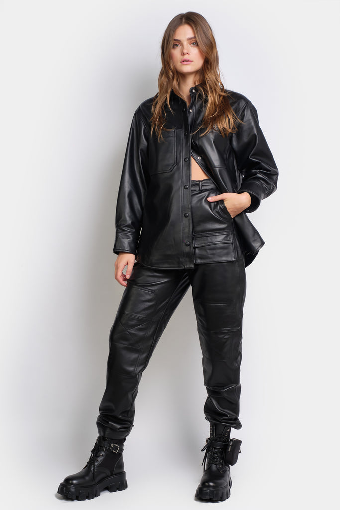 Sasha Black - GENUINE LEATHER