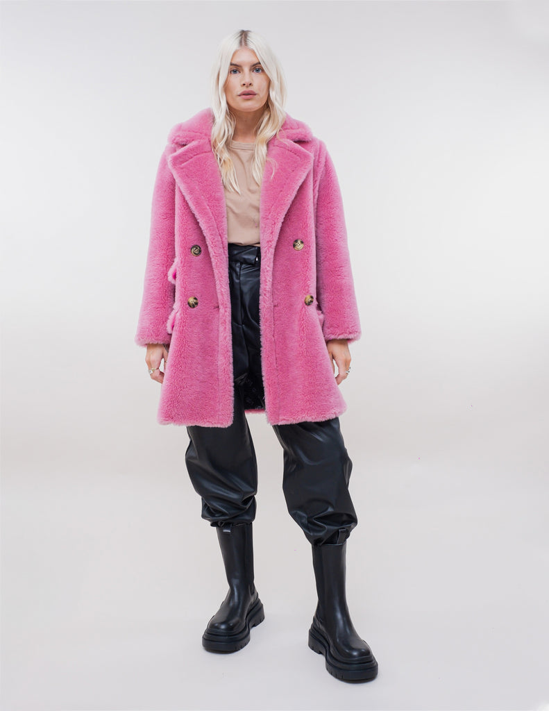 TAMSIN HOT PINK 100% WOOL