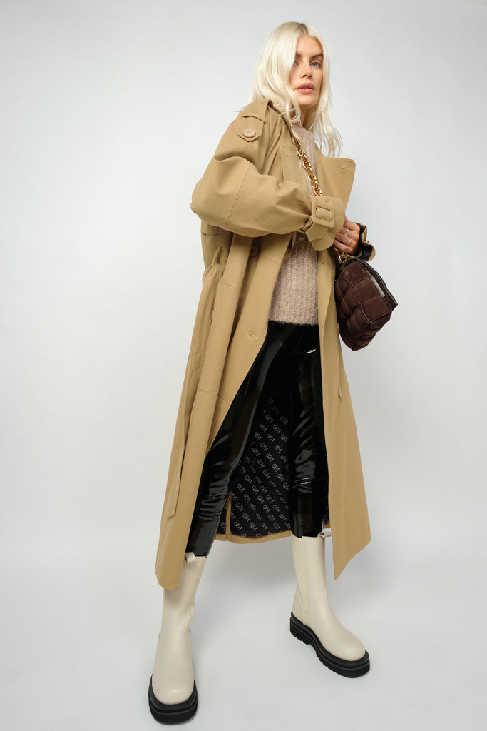 Millie Canvas Trench - Beige - PRE-ORDER