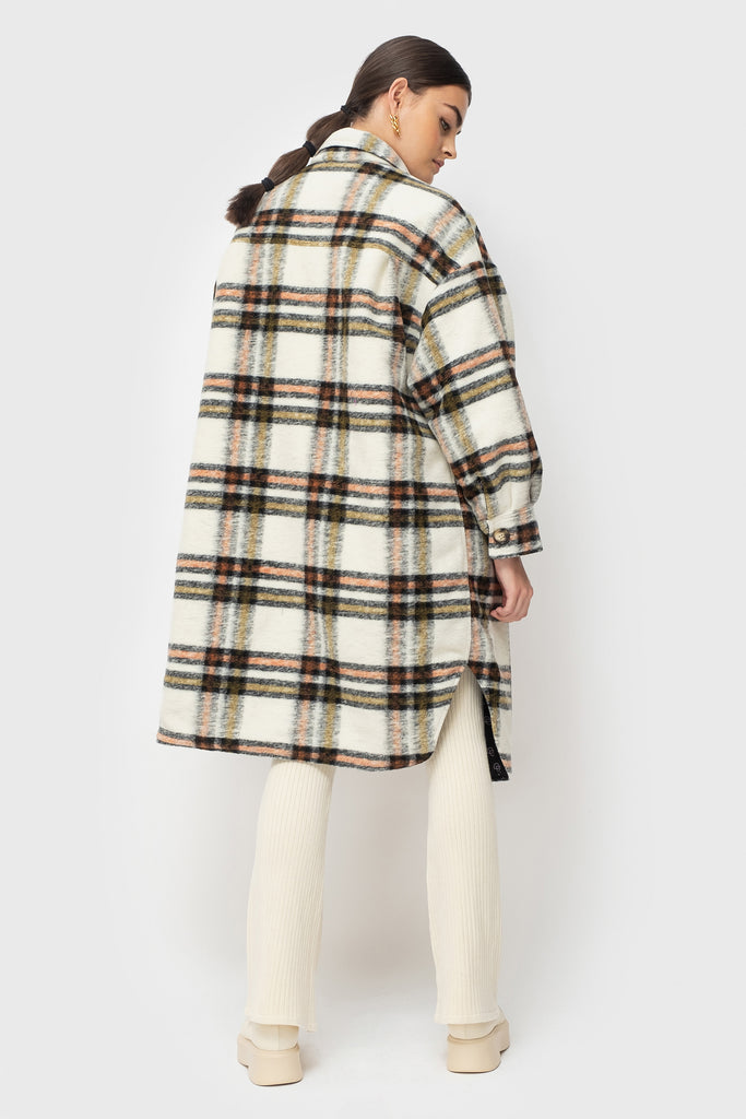 Abi Lined - Cream Check
