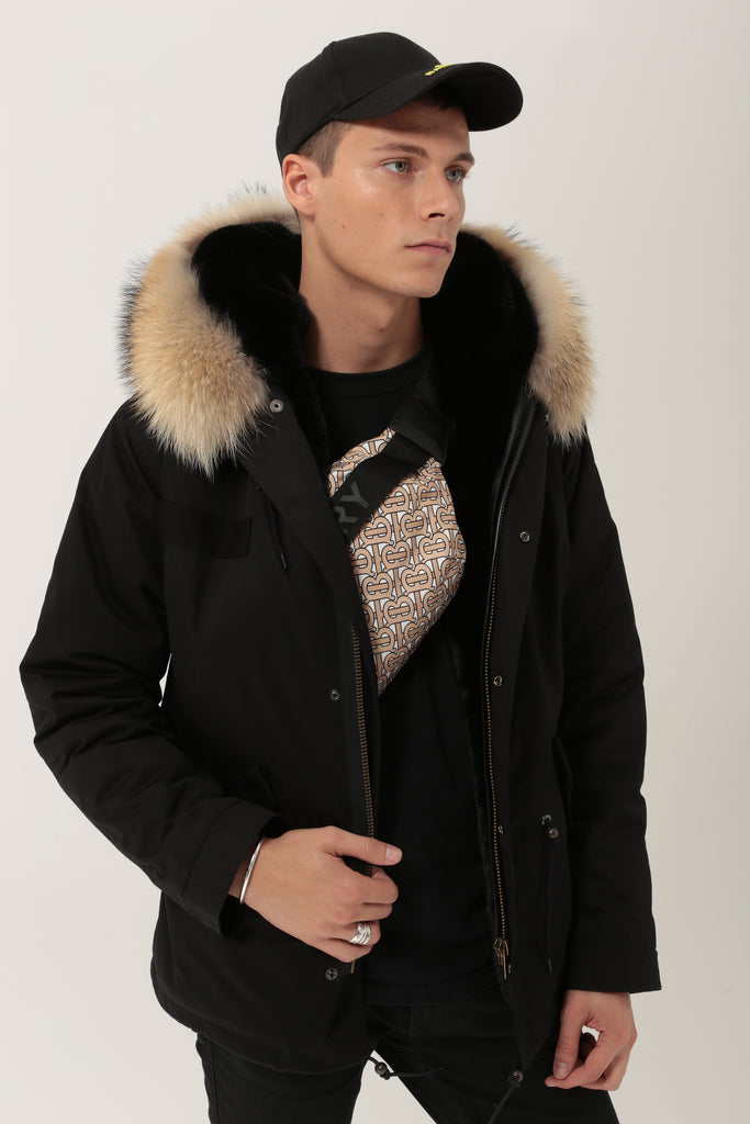 Alex Short - Black/Natural - SAGA FUR