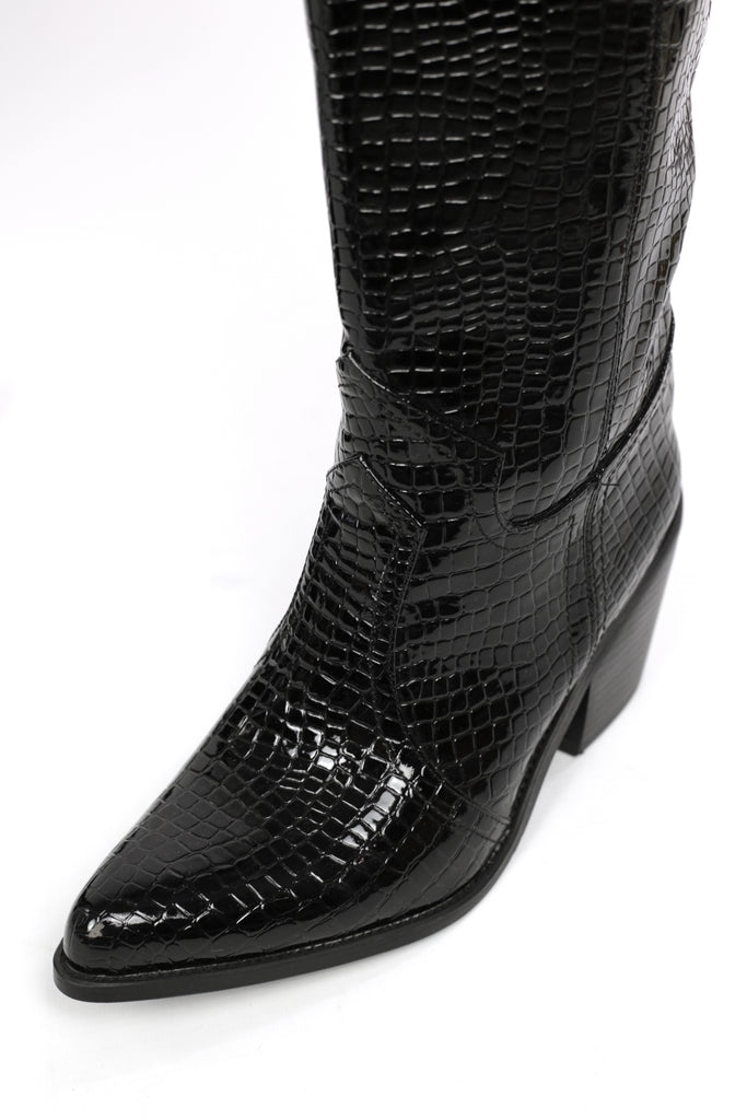 Marilyn Black Patent Croc