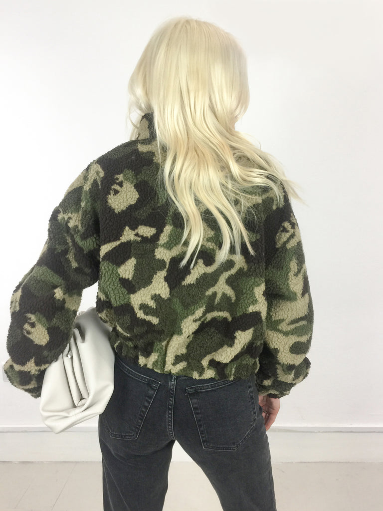 Sample Sale - Camouflage Fleece Zip Up Top