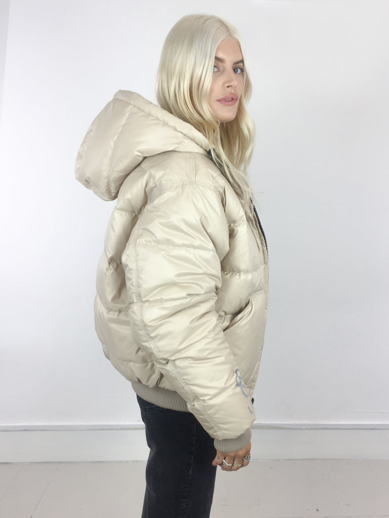 Sample Sale - Beige Down Filled Bomber Jacket