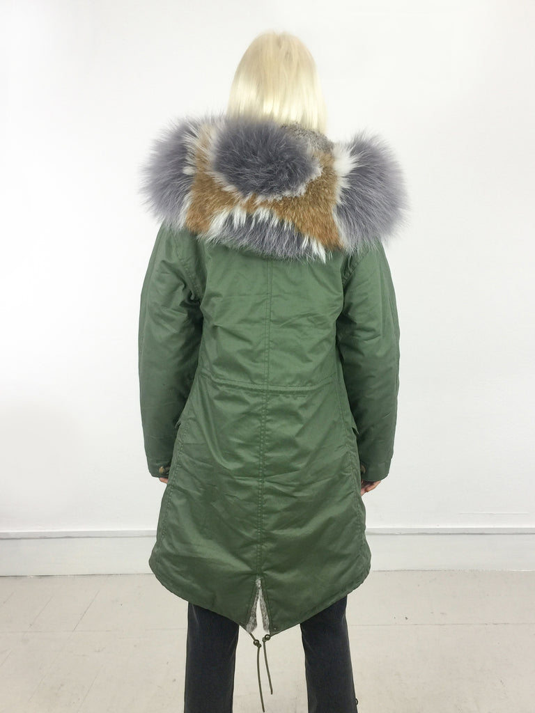 Sample Sale - Alexandra Long [Cotton Outer/ Real Fur Lining/ Real Fur Hood]