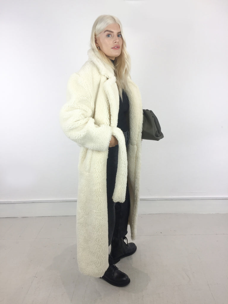 Sample Sale - 30% Cream Belted Wool Coat