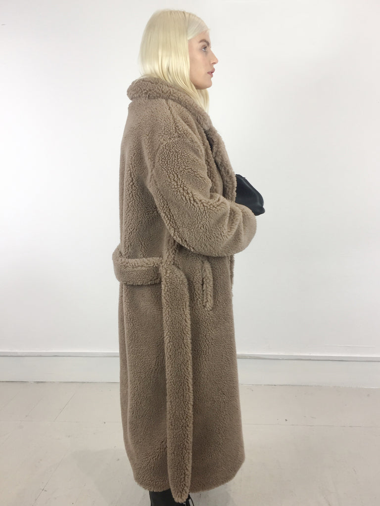 Sample Sale - 30% Beige Belted Wool Coat