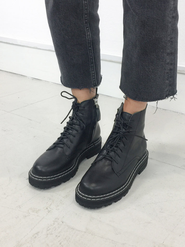 Sample Sale - 100% Leather Lace Up Boot