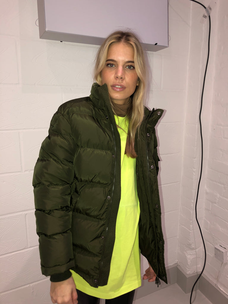 Sample Sale - PUFFER JACKET Olive without Hood