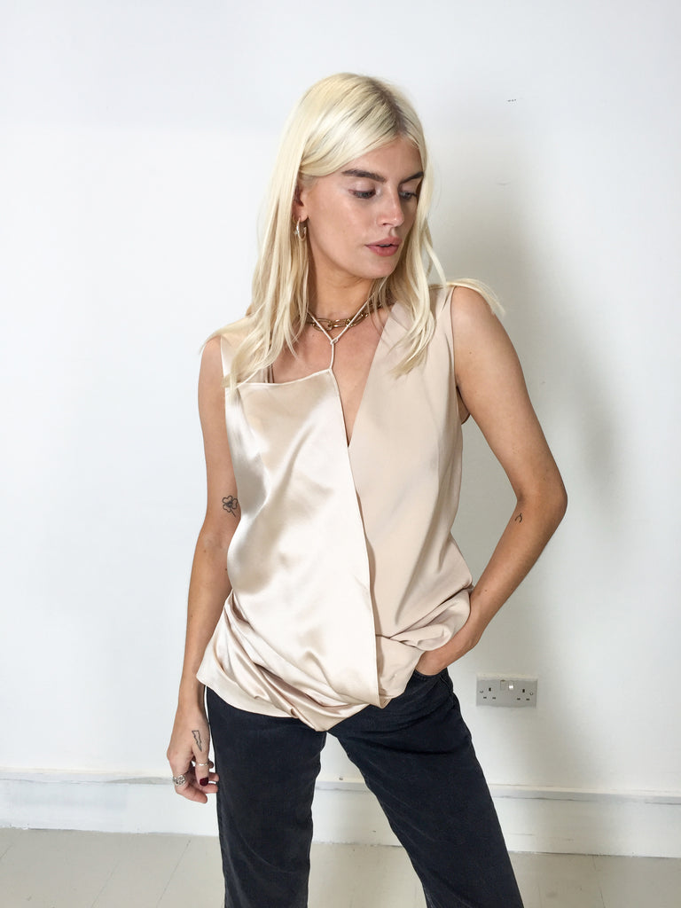 Sample Sale - 100% Silk Gathered Top