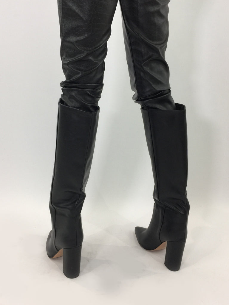 Sample Sale - Black Faux Leather Boots