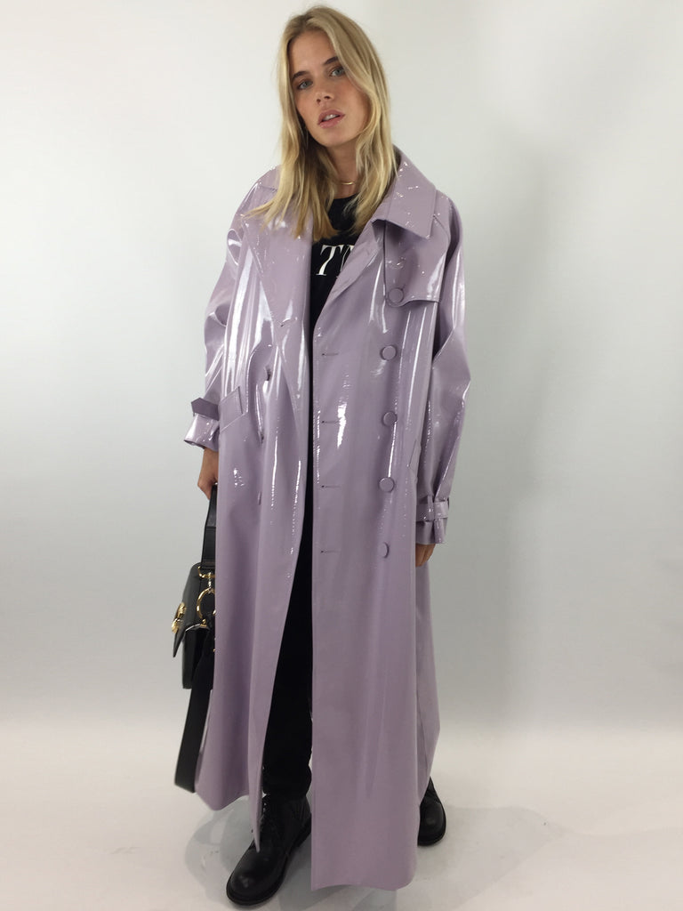 Sample Sale - Lilac Vinyl Oversize Trench