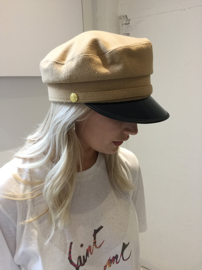 Sample Sale - Wool Military Hat Camel