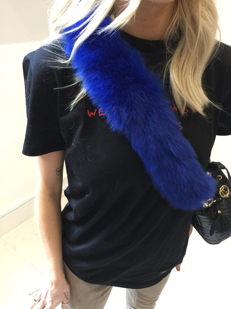 Sample Sale - Real Fur Electric Blue