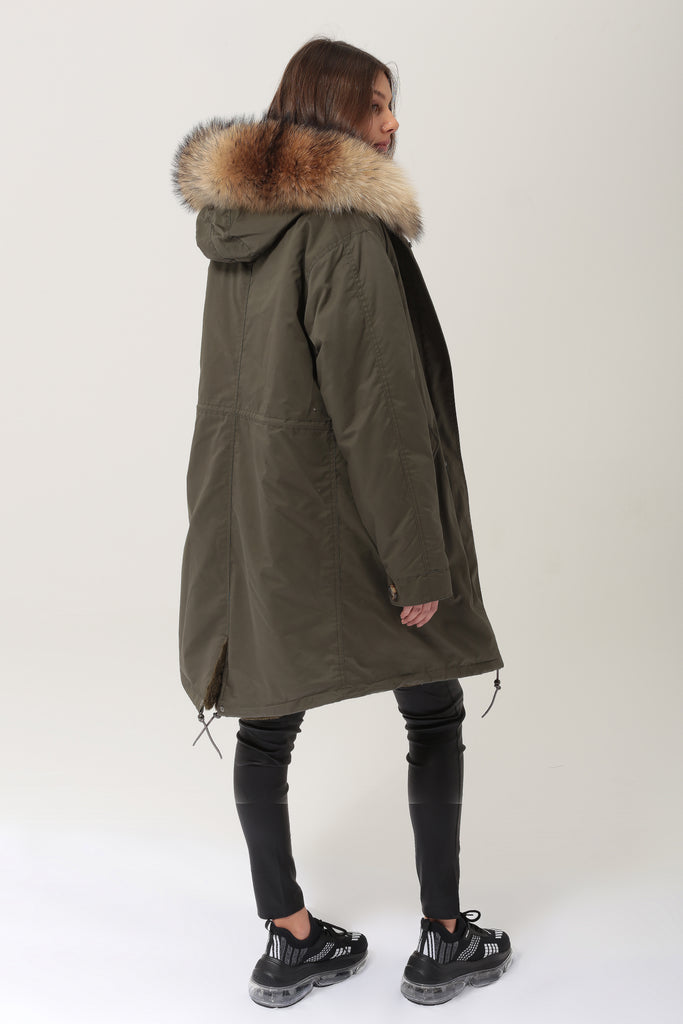 Alexandra Long - Green/Natural - SAGA FUR