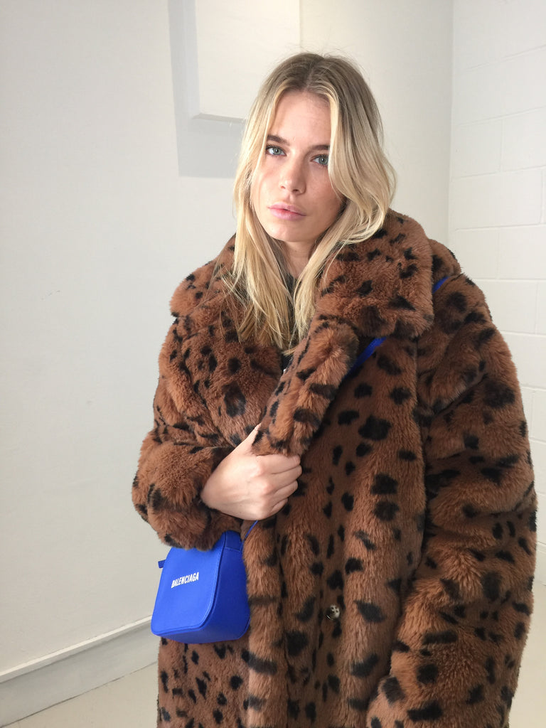Sample Sale - Faux Long Leopard Jacket