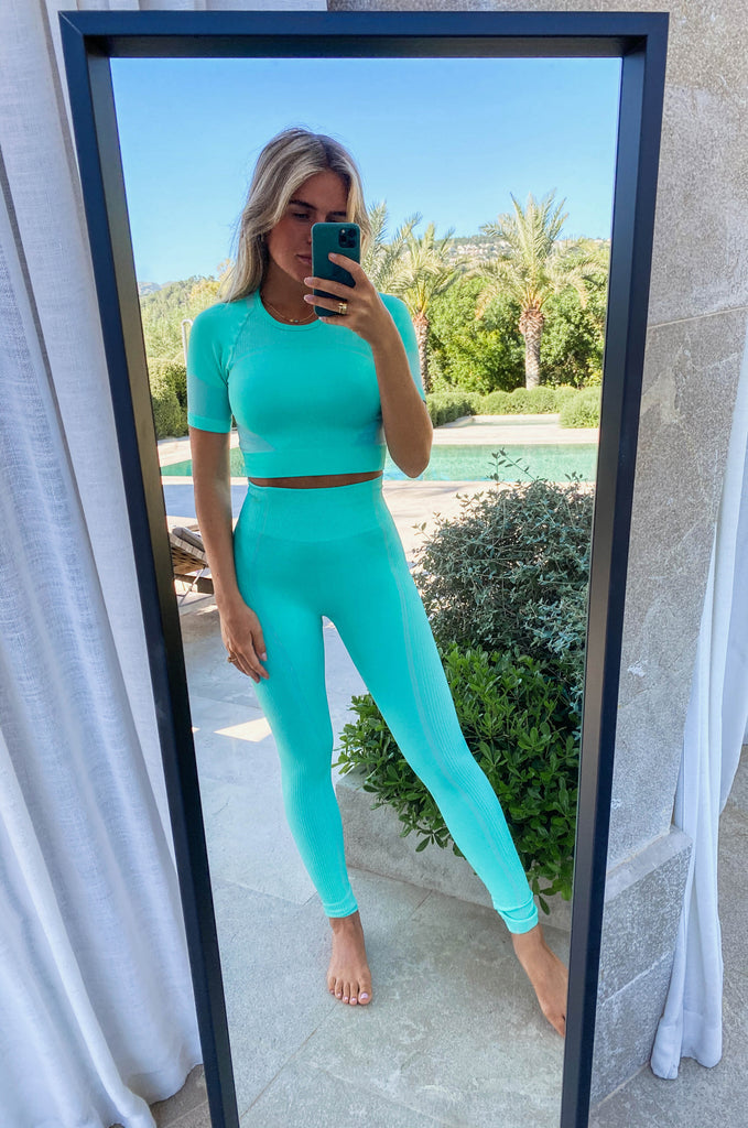Reese Leggings Aqua