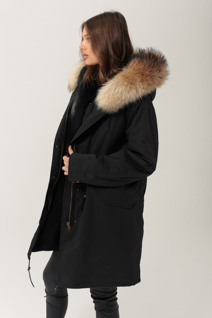 Alexandra Long - Black/Natural - SAGA FUR - PRE-ORDER