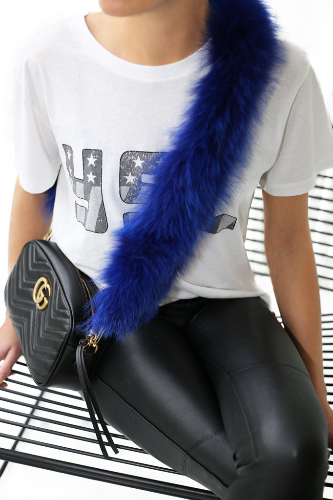 Fox Fur Bag Strap