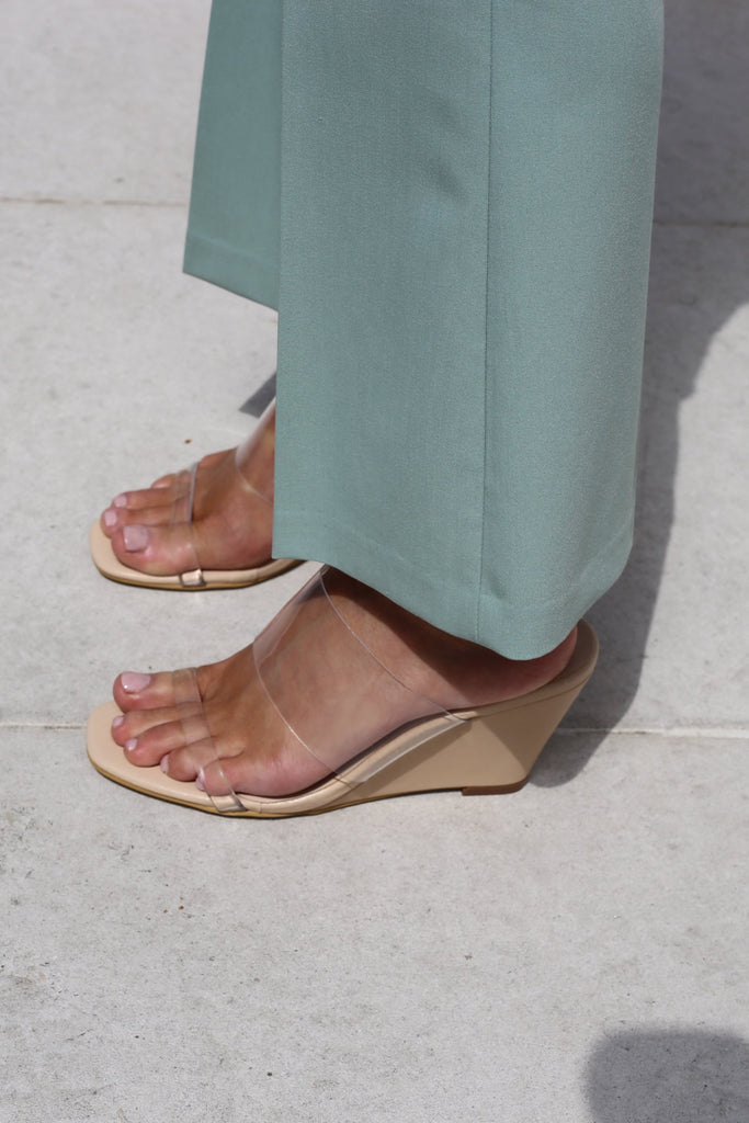 PVC Wedge Mules
