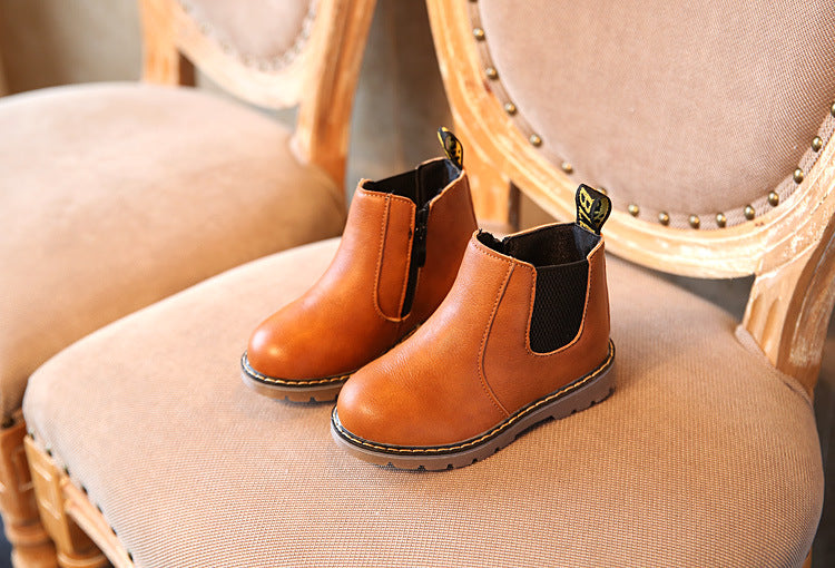 Handmade Leather Boots Toddler Kids Shoes